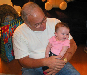 Proud Grandpa and Savanah