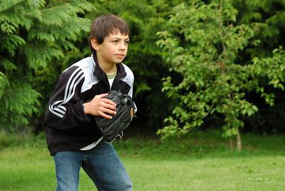 Eliot Practicing Softball