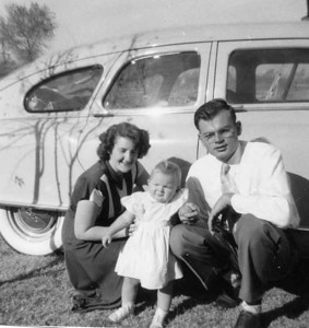 This was taken near our car at the trailer Park we stayed at while Dad was in school at Loma Linda.