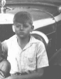 I did a closeup of this old snapshot as it was so badly decomposed but it is ed when he was in his early teens.