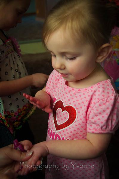 Devyn. She loves having her fingernails polished!