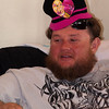 Uncle Roy wearing Barbie hat!