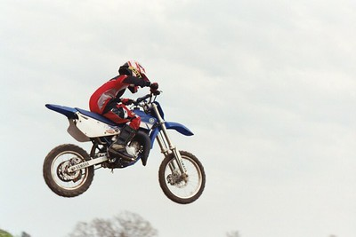 Jumping his YZ100 at Cross Creek Cycle Park