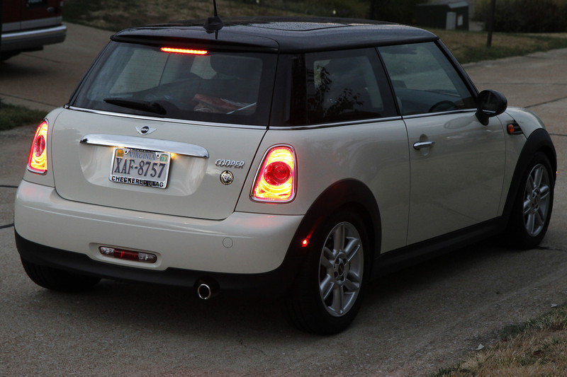 Heather and Adam's new Mini... nearly 4,000 miles after this trip.