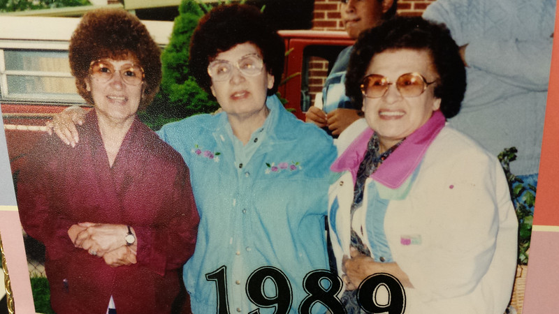 Picture of a Picture:  Three sisters 1989