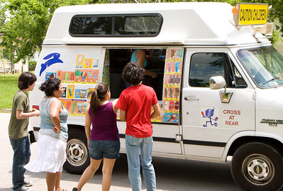 The ice cream truck came by.  Mmmm