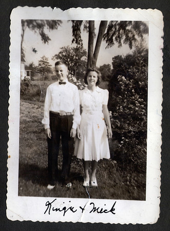 Robert Lee King Sr. with his Sister, Margery King, circa 1940-41, bottom of Rosedale St. Portland, Maine