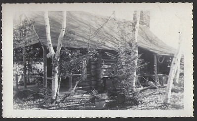 "Camp (""new camp""), Salem, Maine, circa 1948"