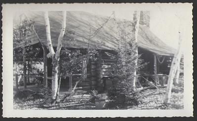 """Camp (""""new camp""""), Salem, Maine, circa 1948"""