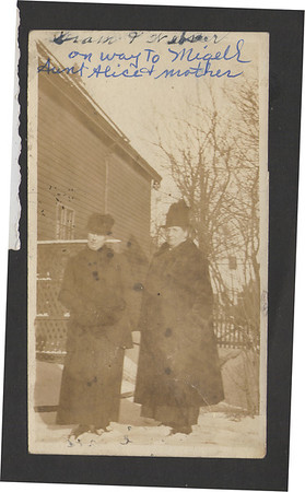 Mrs. Passmore on the right.  She was Beda King's adopted mother.