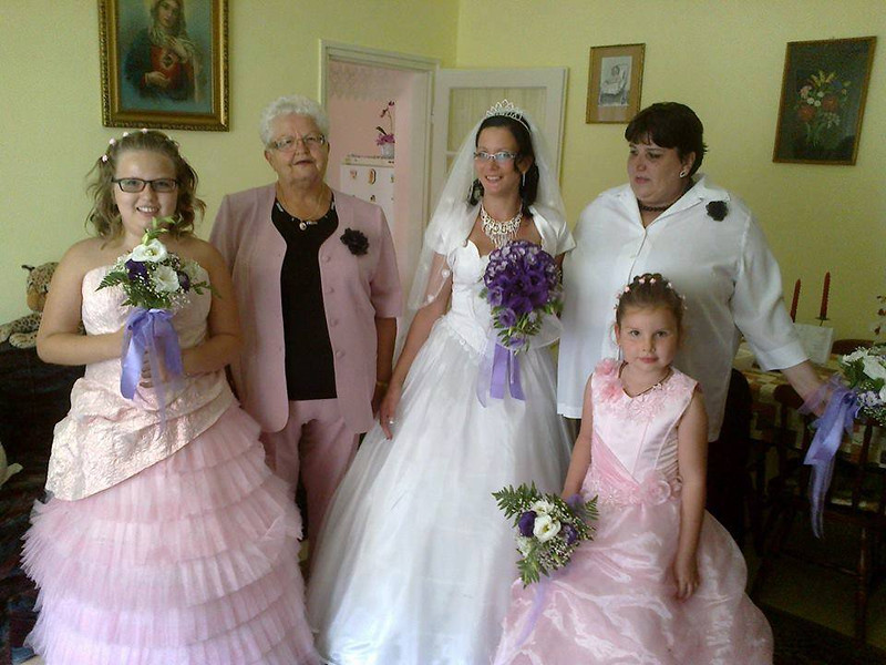 2nd from left is Rozsa, John's sister. This is granddaughter Viki's wedding.
