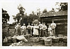 c1932. Corn harvesting scene. Location unknown, but certainly on or near the Levi Esch farm in Oak Creek, Wisconsin. Numbering left to right, those I have identified are (5) Irene Esch Ehrhardt?, (6) Martha Block Esch, (7) Levi B. Esch, (8) Gordon George Esch?, (10) Eldon Esch?, and (11) Wesley Esch. My best guess is that the other individuals are from the Charlie and Salina Freedy family. Salina Esch Feedy was a sister of my grandfather Levi Esch.