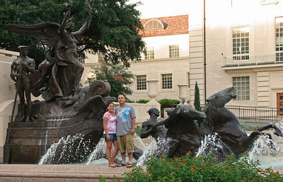 Littlefied Fountain, South Mall, University of Texas campus.