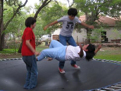 Bouncing.  Summer 2008