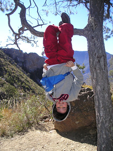 Upside down.  Lost Mine Trail, Big Bend, Christmas 2004