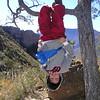 Upside down.  Lost Mine Trail, Big Bend, Christmas 2004