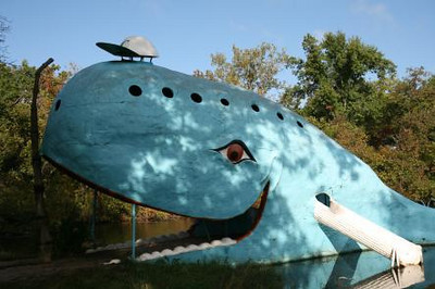 Blue Whale at Catoosa, Route 66 near Tulsa, OK