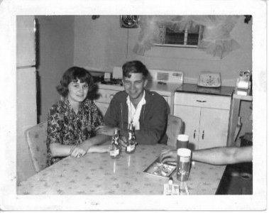 My parents, before I existed.  I can't believe how much hair Dad had!