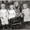 Circa 1909. Ernest Lee Shaw. Born October 12, 1905 at Genoa, NY. Married Laura Berrells (born 1909). Worked for a feed mill in Horseheads, NY. Dorothy Mildred Shaw (Rogers). Born April 11, 1908 at Genoa, NY. Married Edward Rogers. Worked for Smith Corona in Groton, NY. Ruby May Shaw (Swartwood). Born May 1, 1903 at Genoa, NY. Married Carl Swartwood. Mary Catherine (Kit) Shaw (Baker). Born February 19, 1907 at Genoa, NY. Married Oscar Baker. (Photo ID: 38861)