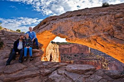 Mesa Arch, Canyonlands, Bill, Edna, Andy, 9-2007