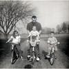 Susan Meade, Francis Meade (father), Joel Meade (on shoulders) of Sheldon Meade, and Alan Meade. September 1971. (Photo ID: 35065)