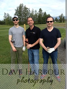 Wasilla Golf Course, Billy, Ben and Todd Harbour, June 2014