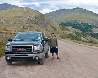Mitchell on Old Fall River Road, Rocky Mountain National Park, CO