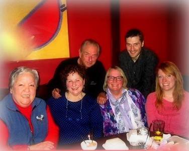 Nancy Harbour's Birthday, 12-26-15 at Benihana's in Anchorage, with Linda McLaughlin, Nancy Brain, Ashley Brain, Billy Harbour and Dave Harbour.
