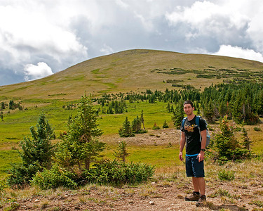 Mitchell on the Ute trail, Rocky Mountain National Park, CO