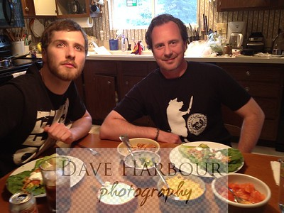 Anchorage, Billy and Todd as Billy adopts 'Col Dave Harbour' Pose and Todd gases naturally at camera.  :)  July 2014