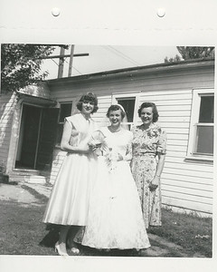 Mom (left), Aunt Beverly and Grandma Dambach