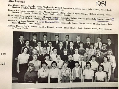 Mom, Senior, 1951, Rufus King High School