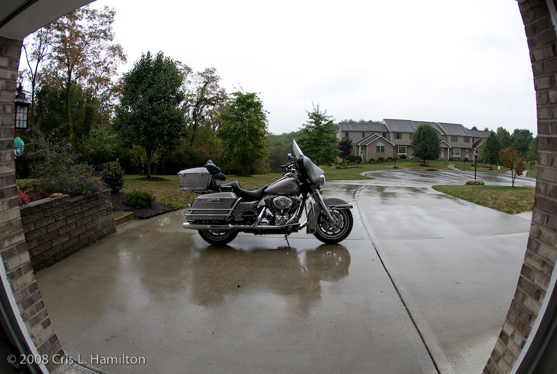 Harley Motorcycle wide angle-9509