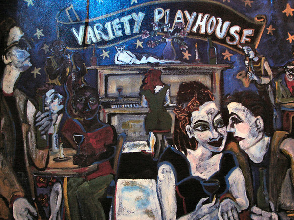 Art from the Variety Playhouse in Atlanta, venue of the crime.