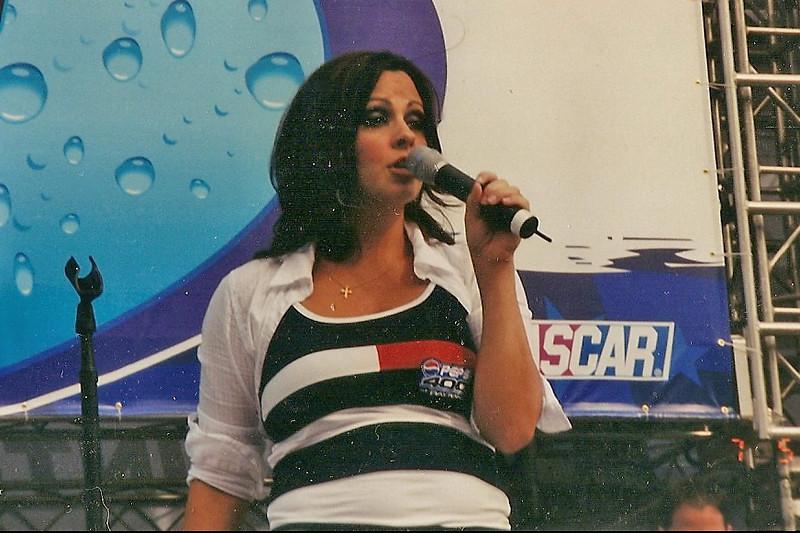 Sarah Evans, Pepsi 400, July, 2003.
