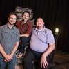 New Theatre staff/faculty, Dan Anteau, Brian Cook and Tyson Hewitt.