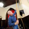 Fedor Berndt Jr. of Fitchburg rings the bells at Christ Church on Main St. in Fitchburg from noon to 12:15 P.M. for the city's 250th anniversary, Monday.<br /> SENTINEL & ENTERPRISE / BRETT CRAWFORD