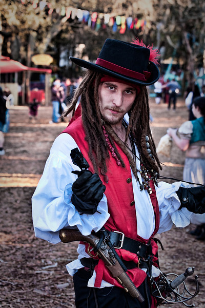 A pirate at the festival. He might have been visiting from the Gasparilla Pirate Invasion that happened a few weeks ago.