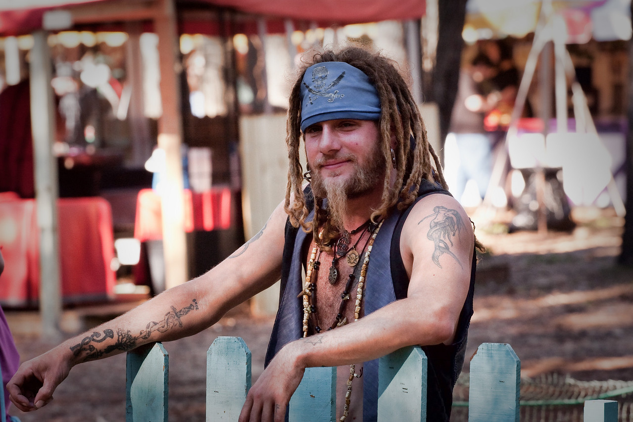 This chap operates one of the man operated rides at the Renaissance Festival.