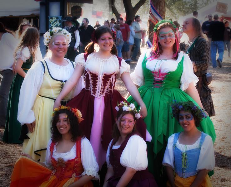 Village maidens.