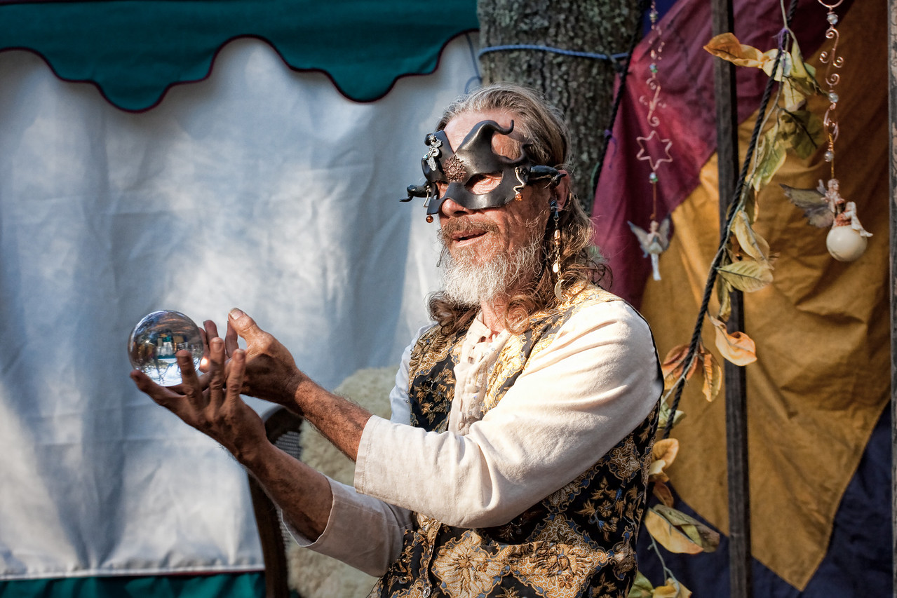 A contact juggler with his crystal ball.