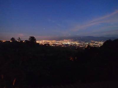 From my deck: San Jose city night lights.