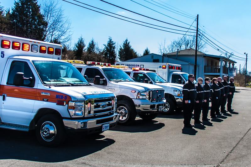 EMS Honoring a Fallen Firefighter