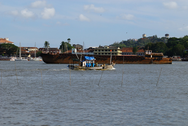 Trawler and ore barge