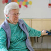 Grace Hatch, 87, does some yoga with the Silversneakers program at the YMCA in Fitchburg on Wednesday morning. SENTINEL & ENTERPRISE/JOHN LOVE