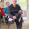 Carmela Balsamo, 88,  does some yoga with the Silversneakers program at the YMCA in Fitchburg on Wednesday morning. SENTINEL & ENTERPRISE/JOHN LOVE