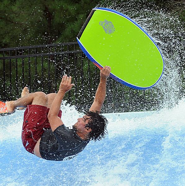 Nick Phillips and his friends put on a show on the FlowRider at Discovery Island Water Park.<br /> FlowRider Pro/Am Contest.<br /> Join the fun as some of the worlds best flowboarders will be at Discovery Island Waterpark for the 2012 FlowRider Pro/Am Contest on August 5th. Bodyboard & Flowboard Divisions:<br /> Women's – Junior's – Men's – Master's – Pro's<br /> Call Discovery Island at 864-963-4345  or e-mail Matt Whirley at mwhirley@gcrd.org. You can also register onsite before August 5th at Discovery Island.<br /> GWINN DAVIS PHOTOS<br /> gwinndavisphotos.com (website)<br /> (864) 915-0411 (cell)<br /> gwinndavis@gmail.com  (e-mail) <br /> Gwinn Davis (FaceBook)