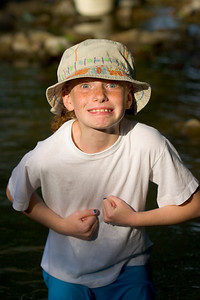 My daughter, Jordan! The water was a little cool that day. This was in 2006 so, a little dated now.