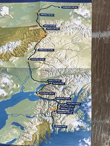 The train runs from Seward in the south to Fairbanks in the north. .. Closer shot follows. .. Link below: