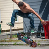 Moise Calypso of Fitchburg competes in the Frankie Fortuna Skate Challenge held on Townsend St outside the Acid Reign skate shop at Townsend & Lunenburg Sts. SENTINEL&ENTERPRISE/ Jim Marabello